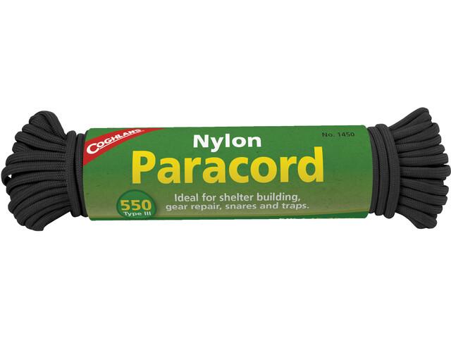 Coghlans Paracord 15,25m, black